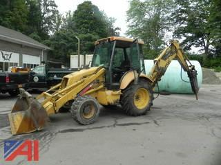 1999 New Holland 555E Bucket Loader with Attachment