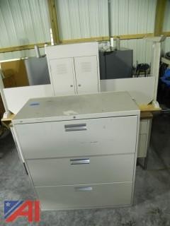 Desks, Filing Cabinet and Tables