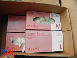 Large Quantity of Better Touch Latex Powered Examination Gloves