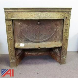 1892 Ornate Victorian Fireplace Insert