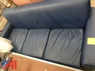 3 Seat Vinyl Couch