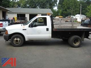 2001 Ford F350 SD Pickup with Rack Body