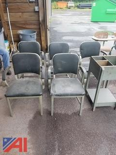 (5) Chairs and Storage Bin