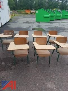 (7) Old School Desks