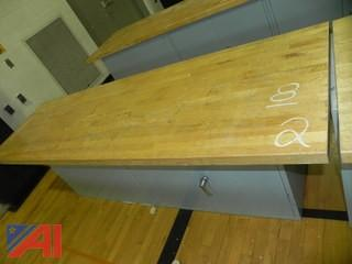 8' Maple Shop Table Top w/ Attached Cabinet