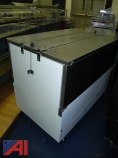 """Beverage-Air ST49N-W 49"""" White 2-Sided Cold Wall Milk Cooler"""