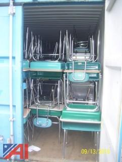 (3) Containers of School Furniture