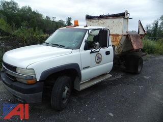 2002 Chevy Silverado 3500 Pickup w/ Garbage Dump