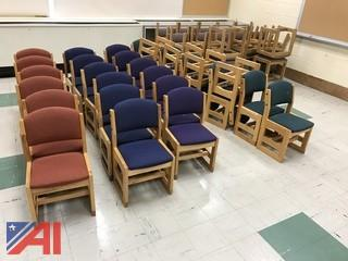(49) Wooden Cushioned Elementary Student Chairs