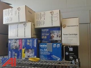 Various Toner Cartridges and Laserjet 4100 Maintenance Kit