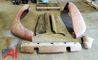 (7) Piece Original 1952 Ford F4 Front End Body Parts