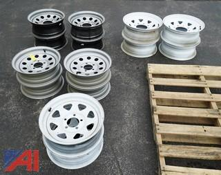 (17) Piece Group of Tires and Rims