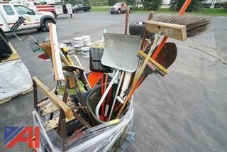 (1) Skid of Cleaning Tools and Saw Horses