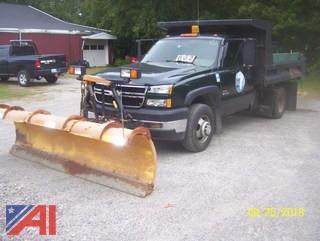 2007 Chevy Silverado 3500 4x4 Dump Truck with Plow