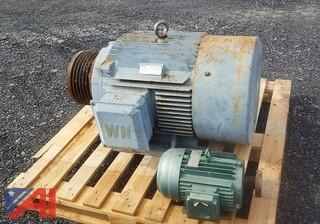 (3) Assorted 3 Phase Electric Motors