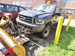 2003 Ford F350 Pickup Truck with Plow
