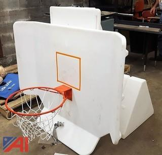 Poly Pool Shot Basketball Hoop & Base