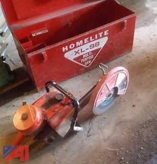 Homelite XL-98 Mutli Purpose Cut Off Saw & Box