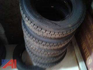(6) Continental HDR 225/70R19.5 Tires