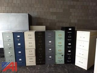 (8) Vertical Filing Cabinets