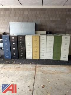 (9) Vertical Filing Cabinets
