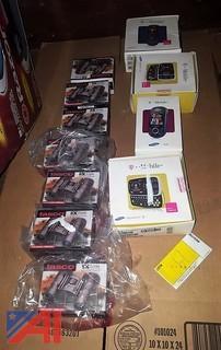 Tasco Binoculars & (4) Assorted T-Mobile Cell Phones