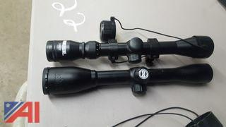 (2) Rifle Scopes & Cover