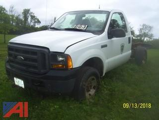 2005 Ford F250 Cab and Chassis
