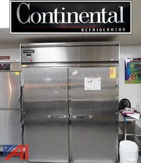 (2) Piece Continental Roll-In Cooler & McCall Reach-In Cooler