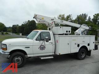 1997 Ford F450 SD Utility Truck with Bucket