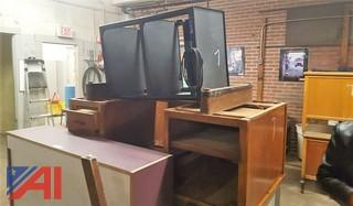 Assorted Desks & AV Cart