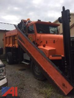 1996 Freightliner FLD Dump Truck with Salter, Front and Wing Plow