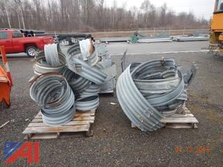 (3) Pallets of Steel Pipe Collars