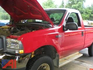 2004 Ford F250 SD XL Pickup with Plow