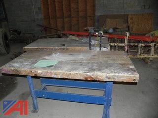 (2) Wooden Work Benches