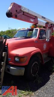 1997 Ford F800 Utility Truck with Boom