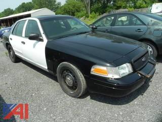 2010 Ford Crown Victoria 4 Door Police Interceptor