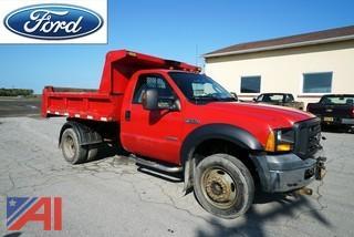2006 Ford F550 XL SD 4WD Dump Truck