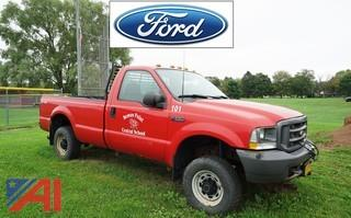 2003 Ford F250 XL SD 4WD Pickup Truck with Plow
