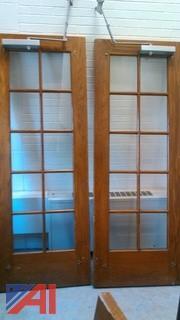 (7sets) Vintage Glass Double Doors