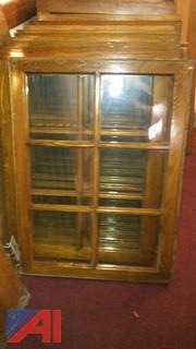 (5) Vintage Transom Window Panels