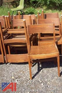 (10) Wooden Chairs