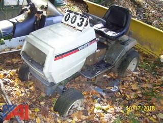 White Cruisematic Riding Mower
