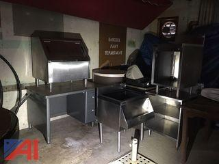 Perlick Stainless Steel Under Counter Bar Cabinets