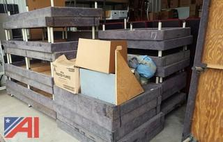 (36) Assorted Carpeted Theatre Risers