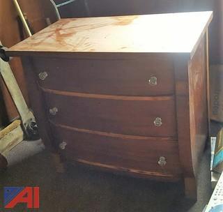 Wooden Dresser & Dresser Mirror