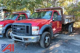 2009 Ford F550 Dump with plow