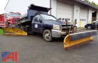 2008 Chevrolet Silverado 3500HD Dump Truck w/Sander & Plows