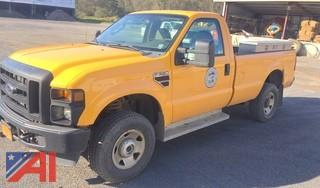 2008 Ford F350 SD Pickup Truck with Plow