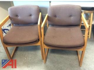 Assorted Upholstered Wood Base Chairs